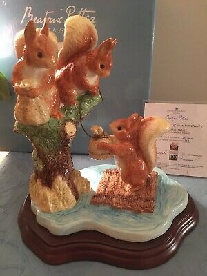 "Border Fine Arts Beatrix Potter ""Sailing Home"" Squirrel Nutkin & Friends • 29.99£"