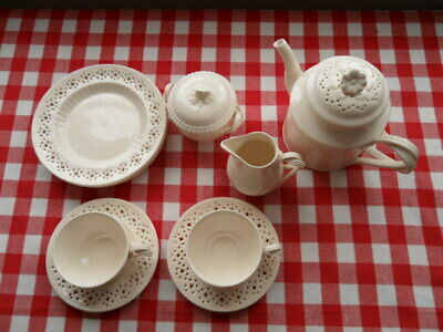 Hartley Greens & Co (Leeds Pottery) Creamware - Tea Set - 10 Pieces. • 100£