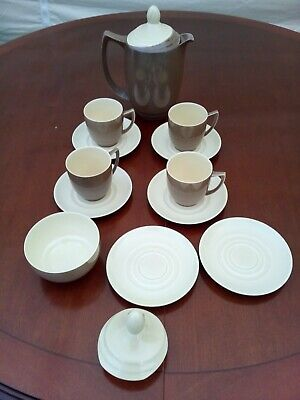 Branksome China Part Coffee Service Coffee Pot 4 Cups 6 Saucers Sugar Bowl  • 19.99£
