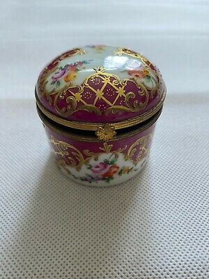 REAL BARGAIN Vintage 1964 Le Tallec Porcelain Trinket Box - Limoges HAND PAINTED • 35.99£