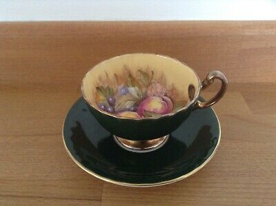 Aynsley Orchard Gold Cup & Saucer Good Condition • 45£