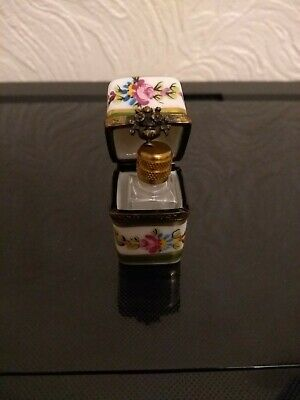 Vintage Limoges Peint Main Scent Bottle Box Hand Painted France • 14.99£