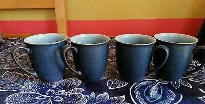 4 X DENBY Jetty Blue Mugs, Excellent Condition  • 14.49£