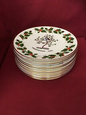 Royal Grafton Fine Bone China Twelve Days Of Christmas Plates Complete Set • 35£