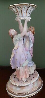 Meissen Porcelain Stand With Figures • 65£