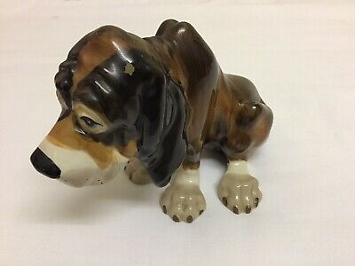 Szeiler Vintage Bloodhound Dog Porcelain/China Ornament • 6£