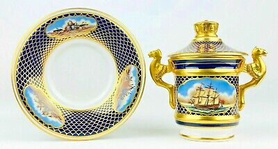 Spode Chocolate Cup & Cover ~ The Shipwrights Cup ~ Boxed ~ COA ~ Excellent • 125£