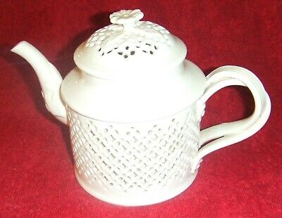 Royal Creamware Originals Series Ornate Teapot With Pierced Outer Skin. • 25£
