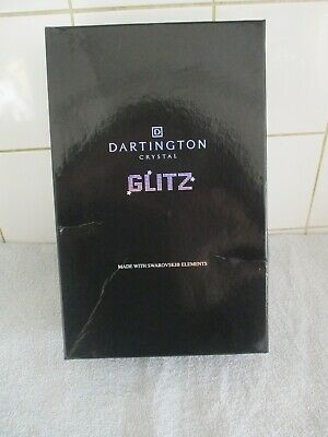 Dartington Crystal Glitz Champagne Flutes With Swarovski Elements BNIB • 7.99£