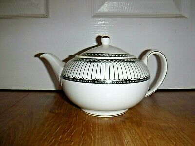 Stunning Wedgwood Colonnade Black And Gold Teapot ~ 1st ~ Excellent ~ RARE • 150£
