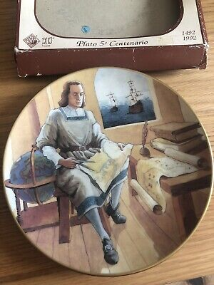 Lladro Nao Christopher Columbus (Cristobal Colon) Limited Edition Ceramic Plate • 23.99£