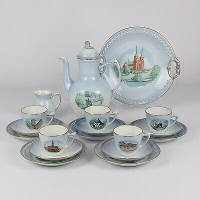 Bing & Grondahl Coffee Set Landmarks Of Denmark • 130£