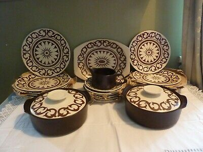 J&G MEAKIN MAIDSTONE  NEW VINTAGE RETRO 21 Pieces Dinner Set Bianca Rare Unused  • 75£
