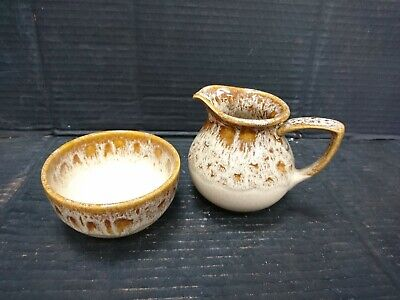 Fosters Pottery Blonde Honeycomb Milk Jug And Sugar Bowl  • 14£