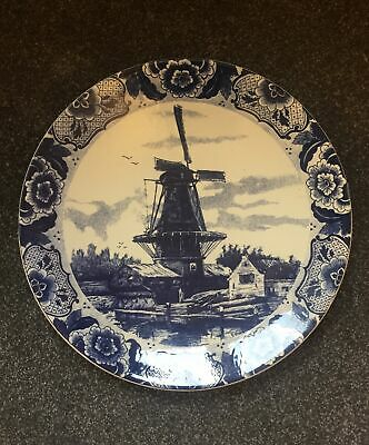 Delfts Blauw Large Wall Charger Plate - Horse And Carriage Cart (39 Cm / 15 ) • 49.99£