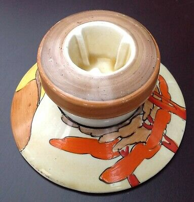 Clarice Cliff Coral Firs Squat Candlestick Holder Shape 331 Art Deco   • 140£