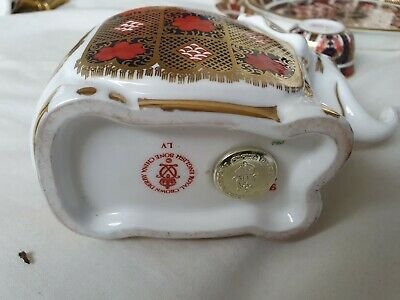 Royal Crown Derby Paperweight Old Imari Elephant Ref 454/2 • 35.75£