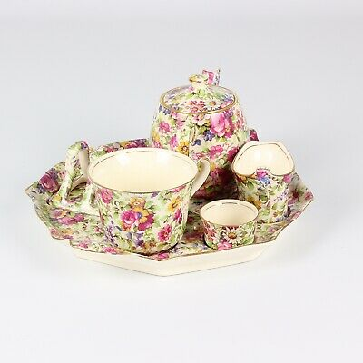 Royal Winton Chintz Summertime Cabaret Tea For One Set, A/F • 28£