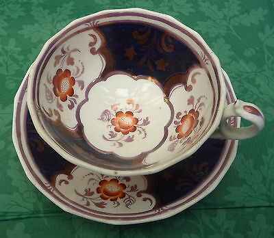 Rare Pattern Antique Gaudy Welsh Cup & Saucer C1850 Quality Item  Display 2810  • 22.99£