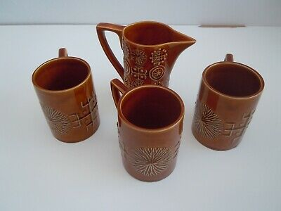Portmeirion Pottery 'Totem' 3 Coffee Cup And A Small Jug. • 8.99£