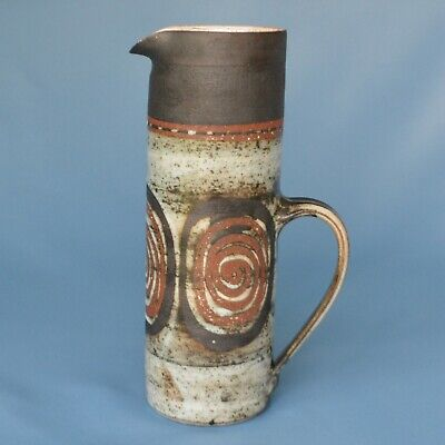 "Briglin Pottery  Cylinder Jug Or Vase In Excellent Condition 10.25"" High • 30£"