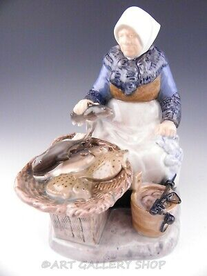 B&G Bing Grondahl Figurine #2233 FISHERMANS WIFE FISH MARKET By Axel Locher Mint • 137.32£