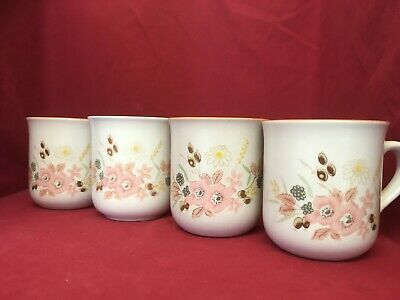 Set Of 4 Vintage Boots Hedge Rose Ceramic Mugs  • 15£