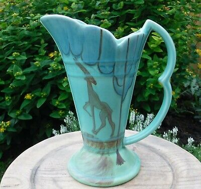 Vintage Art Deco Wade Heath Trumpet Jug (1104) • 38£