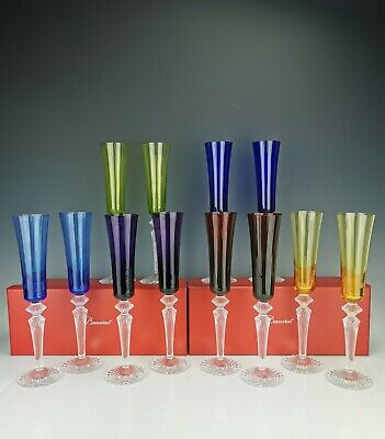 BACCARAT - 1 Coloured Champagne Flute - Model  Mille Nuits  Flutissimo ***NEW*** • 176.87£