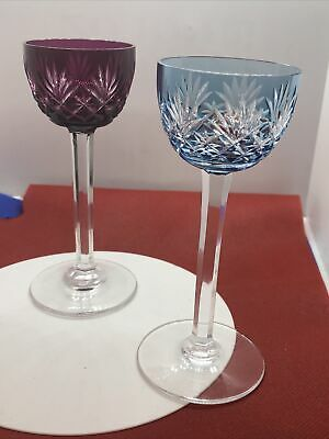 2 Baccarat France Crystal Wine Glasses In Excellent Condition • 180£