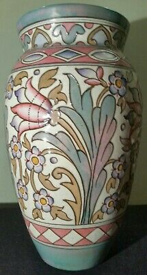 Large Baluster Vase  Wind Tossed Tulips No TL76 Designed By Charlotte Rhead 1947 • 155£
