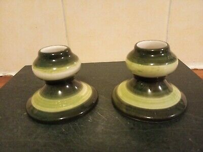 Pair Of Jersey Pottery Small Candlesticks • 4.99£