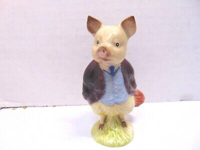 Beswick Beatrix Potter Pigling Bland Maroon Jacket Complete Gold Stamp • 19.75£