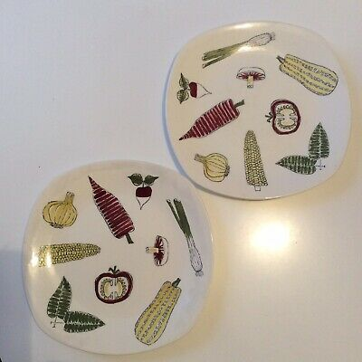 2x Midwinter Saladware Dinner Plates By Terence Conran A/F • 12.50£