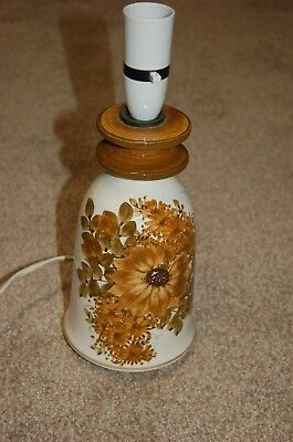 Vintage Jersey Pottery Bedside/table Lamp, Early Hand-painted Floral Design • 15.50£