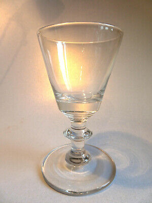 Antique Georgian Drinking Glass Wide Foot • 9.99£