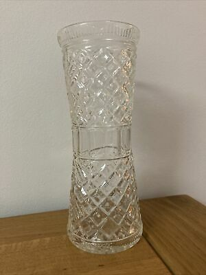 PRESSED GLASS CELERY VASE BARNOOK GLASSWARE 1930's  ( Reg 809140 ) • 25£