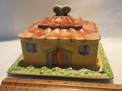 Lovely Vintage Shorter & Sons Cottage Butter Dish Hand Painted Great Condition  • 5.90£