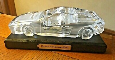 Hofbauer Formen Magic Crystal Ferrari Testarossa 1984 Car On Plinth  • 9.99£