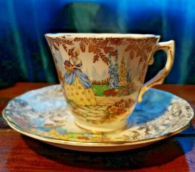 Vintage Colclough Bone China Tea Cup And Saucer - Crinoline Lady • 14.99£