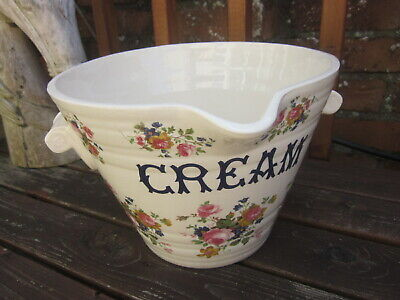 Antique English Victorian Ironstone Grocers Dairy Display Cream Pail • 149£