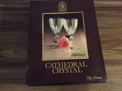 Cathedral Crystal Wine Glasses X6 • 15£
