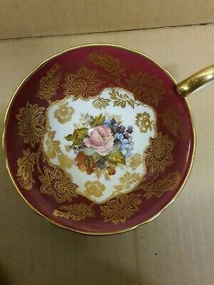 Rare Vintage Aynsley Cup & Saucer Cabbage Rose Signed By JA Bailey • 50£