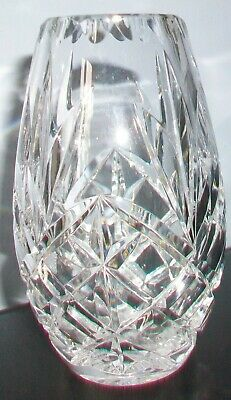 Vintage Crystal Cut Glass Vase. Immaculate Condition • 2£