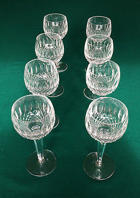 WATERFORD Colleen X 8 Cut Lead Crystal Hock Oversized Wine Water Glasses • 500£
