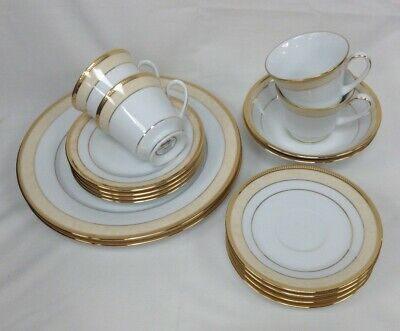16 Piece Loxley Noritake Fine Bone China Dinner Service Set Good Condition #991 • 16£