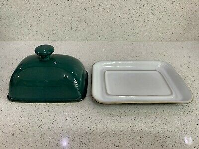 Denby Greenwich Butter Dish With Lid. Excellent Condition • 10.50£