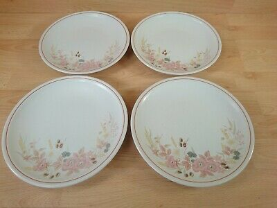 Vintage Boots Hedge Rose Set Of 4 Dinner Plates 10  • 19.99£