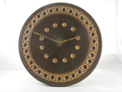 Vintage Jersey Studio Pottery Wall Clock • 20£