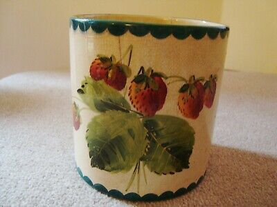 Wemyss Strawberry Decorated Preserve Jar Signed Wemyss T Goode & Co    21/389 • 95£